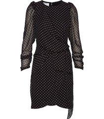 short draped dress with puff sleeves kort klänning svart designers, remix