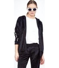 perk zip up hoodie - l black white