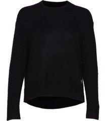 alpaca blend sweater gebreide trui zwart calvin klein jeans
