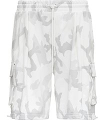dolce & gabbana camouflage jersey bermuda shorts