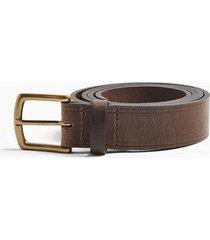 mens brown leather border belt