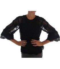 floral lace cutout silk top