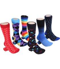 mio marino men's bold designer dress socks pack of 6