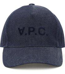 a.p.c. eden denim baseball cap