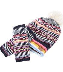 gorro y guantes brigth multicolor humana