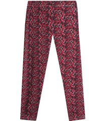 leggings sport mujer abstracto rojo color rojo, talla xs