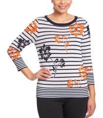 joseph a mixed-print sweater