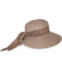 nine west packable classic braid scarf floppy hat
