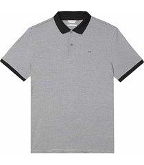 calvin klein men's liquid touch modern fit polo shirt black micro stripe - size: small
