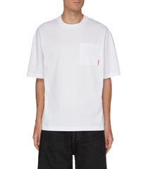 pink label pocket cotton t-shirt