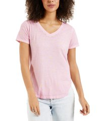 style & co printed burnout t-shirt, created for macy's