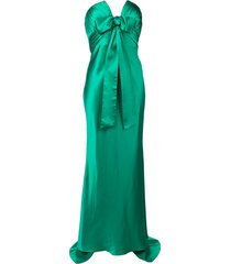 alessandra rich strapless evening dress - green