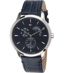 reloj tommy hilfiger 1710387 azul cuero