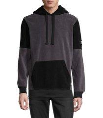 rnt23 men's panda pullover hoodie - antrasit black - size xl