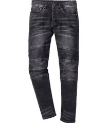 jeans elasticizzato slim fit straight (nero) - rainbow