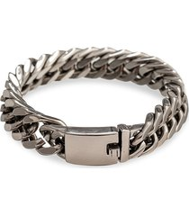 eye candy la men's christian titanium chunky chain bracelet
