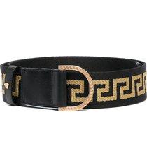 versace greca ribbon belt - black