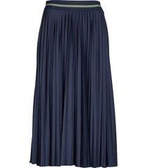 skirts knitted knälång kjol blå esprit casual