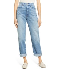 women's slvrlake dakota high waist relaxed boyfriend jeans, size 30 - blue