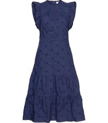 flutter midi dress knälång klänning blå gap