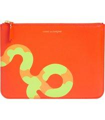 comme des garcons wallets ruby eyes snake graphic wallet in orange at nordstrom