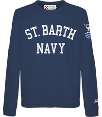 mc2 saint barth blue roundneck st. barth navy sweatshirt