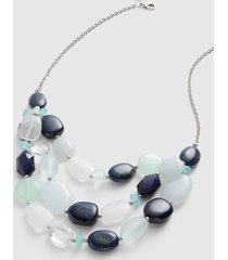 lane bryant women's multi-row beaded necklace onesz night sky