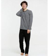 pijama listrada manga longa marisa masculino