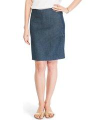 nic+zoe seams to be denim skirt, size x-small in dark denim at nordstrom