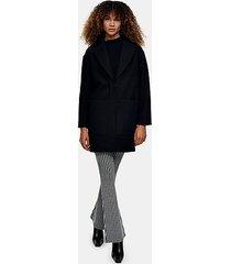 black classic coat - black