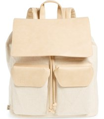 beis faux leather rucksack backpack - beige