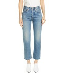 women's re/done originals high waist stovepipe jeans, size 31 - blue