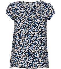 sc-adisa blouses short-sleeved blå soyaconcept