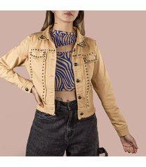chaqueta color caqui de mujer cosmos cp2159