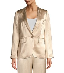 peserico women's satin jacket - champagne - size 44 (8)