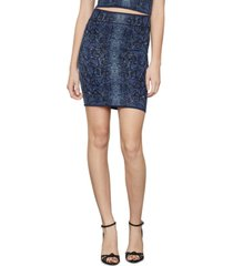 bcbgmaxazria snake-embossed jacquard-knit bodycon skirt