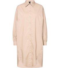 dress holme knälång klänning beige lindex