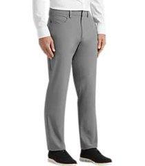 perry ellis premium slim fit tech dress pants gray