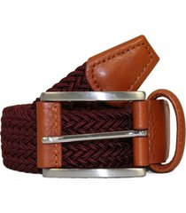 anderson's belts elastic woven belt | dark red | ne37d1