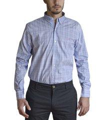 camisa lila brooksfield brighton cuadros 1