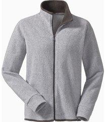 fleece vest, grijs/antraciet m