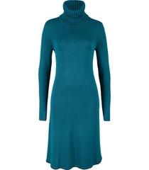 abito in maglia con bordi a contrasto (petrolio) - bpc bonprix collection