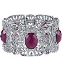 2028 silver-tone stretch bracelet