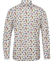 poplin skjorta business multi/mönstrad eton