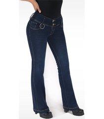 pantalón jeans dama azul di bello jeans ® classic jeans j139