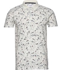 floral print polo shirt s/s polos short-sleeved vit lindbergh