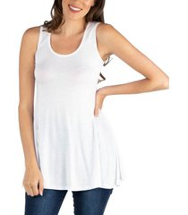 24seven comfort apparel women's scoop neck sleeveless tunic top