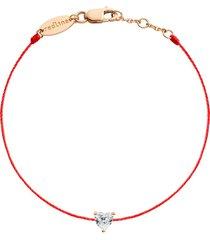 bien aime heart diamond red cord bracelet