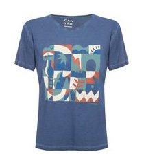 t-shirt slim azulejo - azul