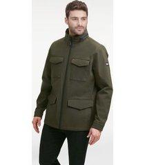 tommy hilfiger men's essential field jacket olive - s